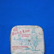 Old Dutch Line Waters & Waters NJ Light Blue and Off White Typewriter Ribbon Tin