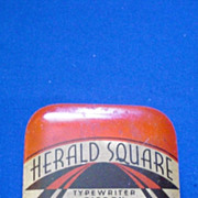 Herald Square F W Woolworth Co Red Black and Tan Typewriter Ribbon Tin