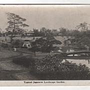 rppc Typical Japanese Landscape Garden Japan Vintage Postcard