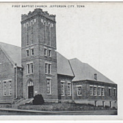 First Baptist Church Jefferson City TN Tennessee Postcard