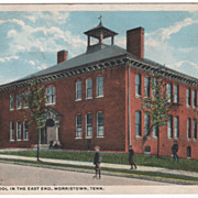 Roberts School in the East End Morristown TN Tennessee Postcard
