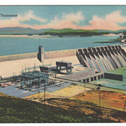 Douglas Dam French Broad River TN Tennessee Postcard