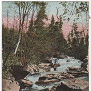 Mormon Hollow Brook on B & M R R between Farley and Millers Falls MA Postcard