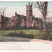 Assembly Hall Smith College Northampton MA Massachusetts Postcard