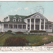 1907 Mohawk Golf Club Schenectady NY New York Postcard