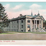 Science Building Springfield MA Massachusetts Postcard