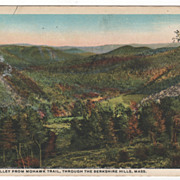 Deerfield Valley from Mohawk Trail through the Berkshire Hills MA Massachusetts Postcard