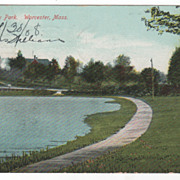 University Park Worcester MA Massachusetts Postcard