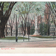Court Square Springfield MA Massachusetts Postcard