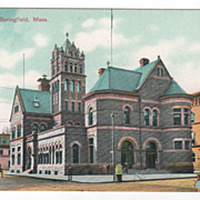 Post Office Springfield MA Massachusetts Postcard