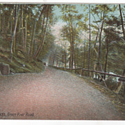 Greenfield MA Massachusetts Green River Road Postcard