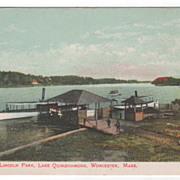 Boat Landing Lincoln Park Lake Quinsigamond Worcester MA Massachusetts Postcard