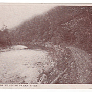 Pleasant Drive along the Green River Greenfield MA Massachusetts Postcard
