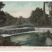 Wiley & Russell Dam Greenfield MA Massachusetts Postcard