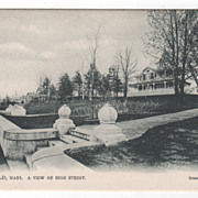 Greenfield MA Massachusetts A View of High Street Postcard