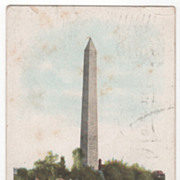 Washington Monument Washington DC District of Columbia Vintage Postcard