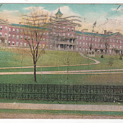Connecticut School for Boys Meriden CT Connecticut Vintage Postcard