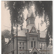 County Court House Greenfield MA Massachusetts Vintage Postcard