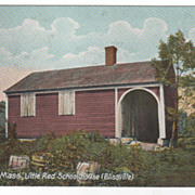 Orange MA Massachusetts Little Red School House (Blissville) Vintage Postcard
