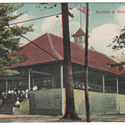 Pavilion at Brookside Park Athol MA Massachusetts Vintage Postcard