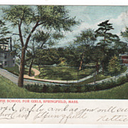 MacDuffie School for Girls Springfield MA Massachusetts Vintage Postcard