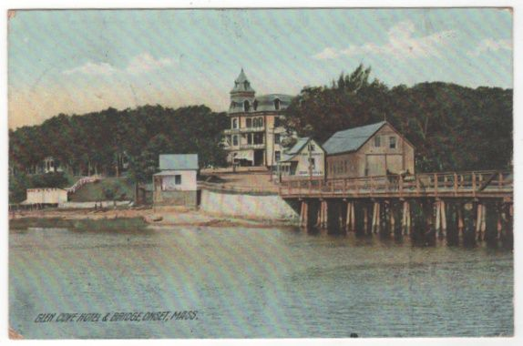 Glen Cove Hotel and Bridge Onset MA Massachusetts Vintage Postcard