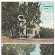 Congregational and M E Churches Grand Junction CO Colorado Vintage Postcard