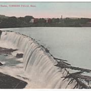Falls and Rocks Turners Falls MA Massachusetts Vintage Postcard