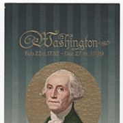 Washington's Birthday Vintage Postcard George Washington Birth and Death Dates