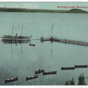 Saratoga Lake Saratoga Springs NY New York Vintage Postcard
