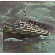Steamer City of Cleveland Vintage Postcard