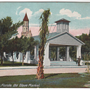 St Augustine FL Florida Old Slave Market Vintage Postcard