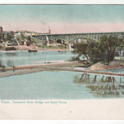 Knoxville TN Tennessee Tennessee River Bridge and Court House Tuck Vintage Postcard