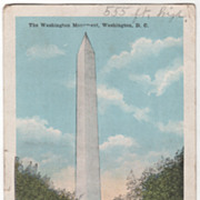 The Washington Monument Washington D C District of Columbia Vintage Postcard