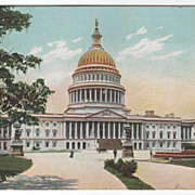 The Capitol Washington D C District of Columbia Vintage Postcard