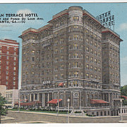 Georgian Terrace Hotel Atlanta GA Georgia Vintage Postcard