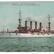 U S Armored Cruiser Tennessee TN Vintage Postcard