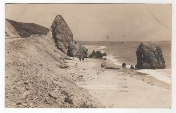 RPPC Castle Rock near Santa Monica CA California Vintage Postcard