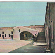 FL Florida Interior of Ft Marion St Augustine Vintage Postcard