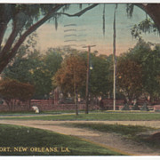 Spanish Fort New Orleans LA Louisiana Vintage Postcard
