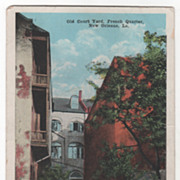 Old Court Yard French Quarter New Orleans LA Louisiana Vintage Postcard