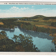 Holston and French Broad Rivers Forming TN Tennessee River Vintage Postcard