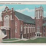 Central Methodist Church Knoxville TN Tennessee Vintage Postcard