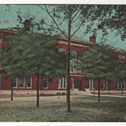 Central School Waycross GA Georgia Vintage Postcard