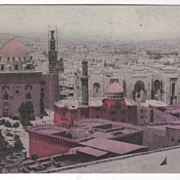View of Cairo Egypt Vintage Postcard