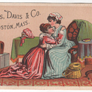Welcome Soap Curtis Davis & Co Boston MA Massachusetts Victorian Trade Card A