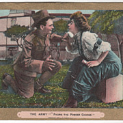 Comic Courting &quot;The Army Facing the Powder Charge&quot; L. R. Cornwell NY - 1909 Vintage 