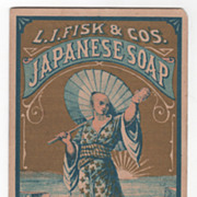 L I Fisk & Co's Japanese Soap Trade Mark 1875 Victorian Trade Card
