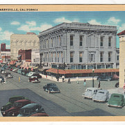 D Street Marysville CA California Vintage Postcard