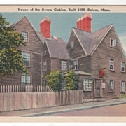 House of the Seven Gables Built 1668 Salem MA Massachusetts Vintage Postcard